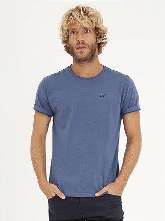 T-shirt Leaf Azul