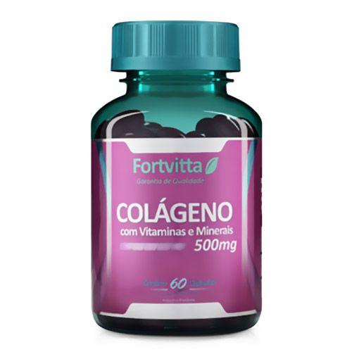Colágeno em cápsulas com Vitaminas e Minerais - 60 cápsulas Fortvitta