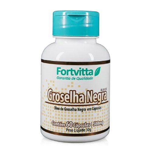 Óleo de Groselha Negra com 60 cápsulas - Fortvitta