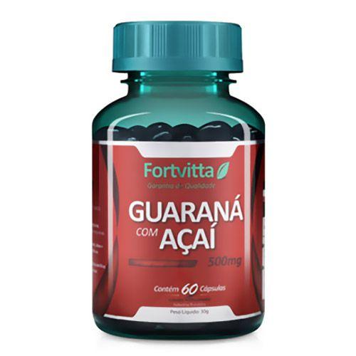 Guaraná com Açaí Energia para o seu dia - 60 cápsulas - Fortvitta