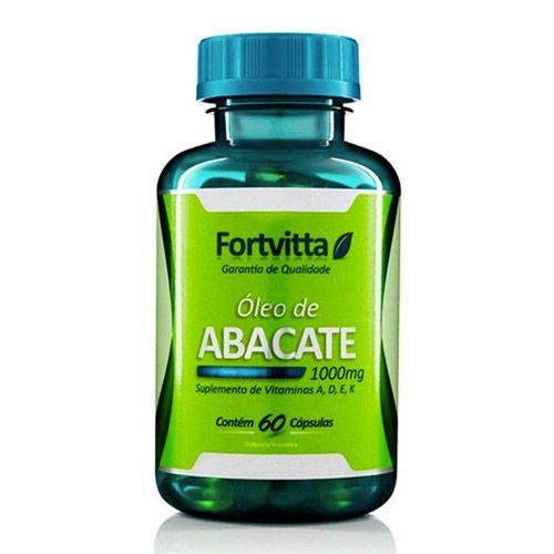 Óleo de Abacate - Controle do Cortisol - com 60 cápsulas - Fortvitta