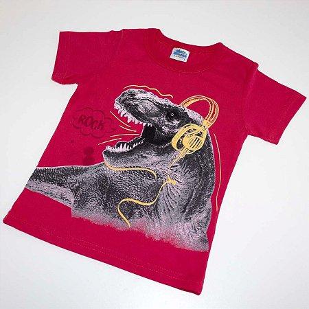f318a87bdc Camiseta Infantil Menino Dinossauro Vermelha - Bicho Bagunça