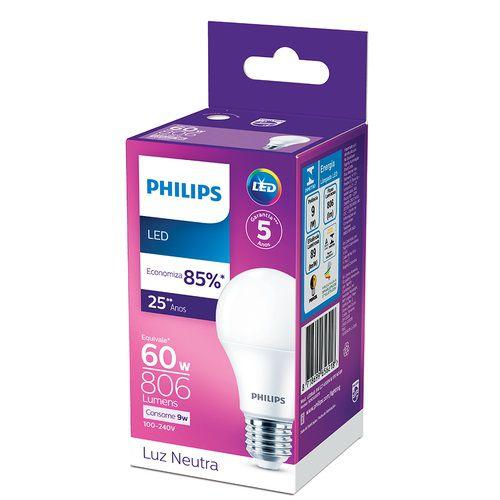 Lâmpada LED 9W Branco Neutro 4.000K 806 Lúmens Philips