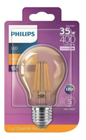 Lâmpada Filamento de Led 4W Philips
