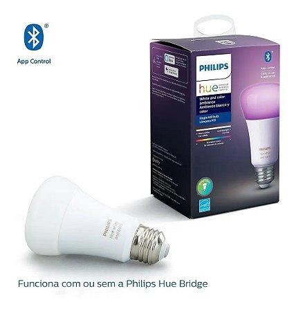 Lâmpada Philips Hue Colorida 9W A60 E27 220V Bluetooth