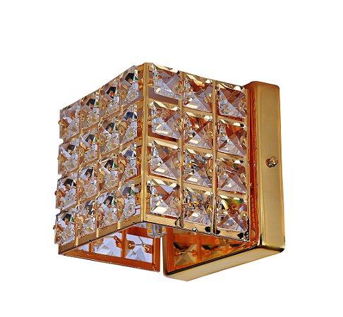 Arandela de Cristal Luxor lll Dourada Arquitetizze
