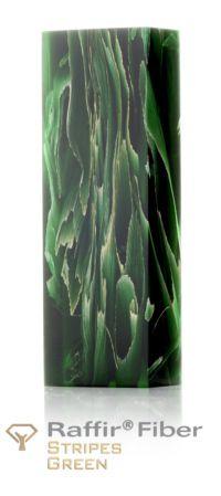 Raffir Fiber Green Stripes