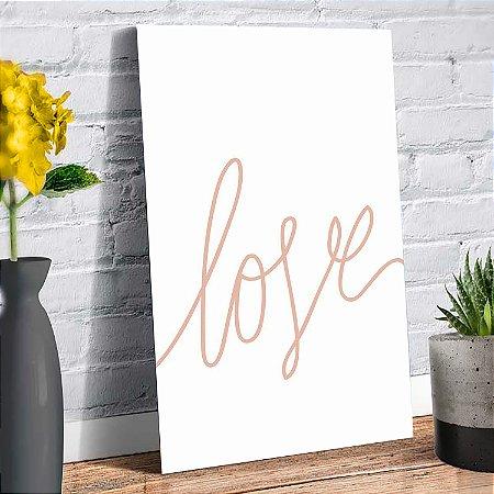 Plaquinha Decorativa - Love