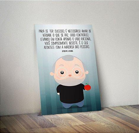 Plaquinha Decorativa - Steve Jobs Frase