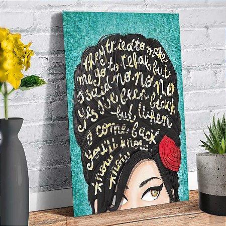 Plaquinha Decorativa - Amy Winehouse