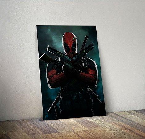 Plaquinha Decorativa - Marvel Deadpool
