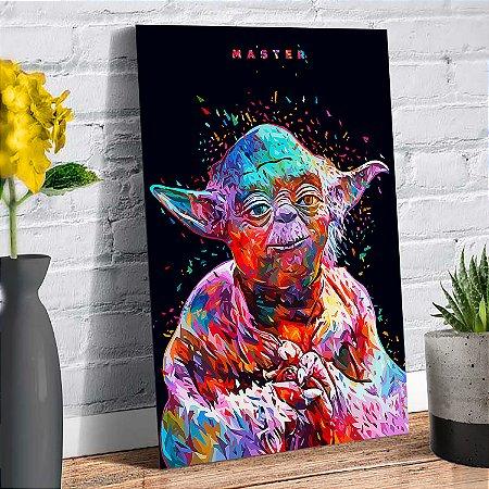 Plaquinha Decorativa - Star Wars Yoda