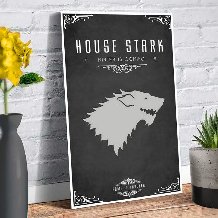 Plaquinha Decorativa - GOT Stark