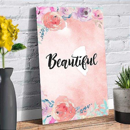 Plaquinha Decorativa - Beautiful