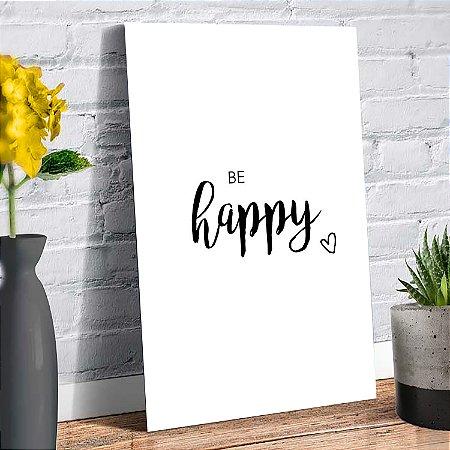 Plaquinha Decorativa - Happy