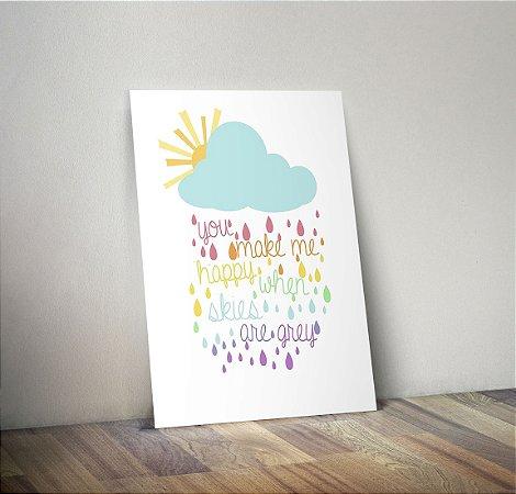 Plaquinha Infantil - Nuvem Frase