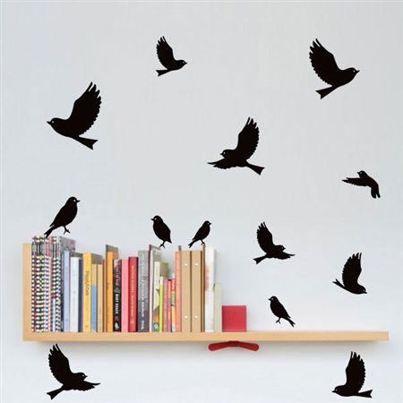 Adesivos de Parede Pássaros Voando