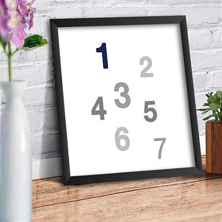 Quadro Decorativo Decoração Infantil Números