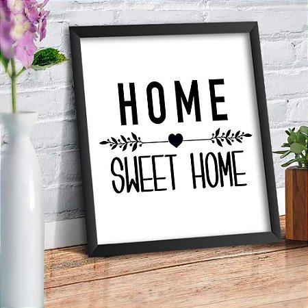 Quadro Decorativo Decoração Home Sweet Home