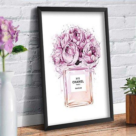 Quadro Decorativo Decoração Perfume Channel