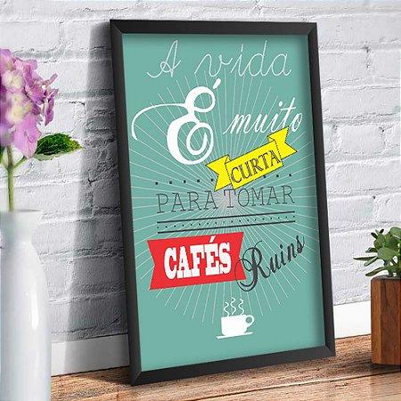 Quadro Decorativo Decoração Frase Café