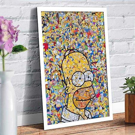 Quadro Decorativo Decoração Simpsons