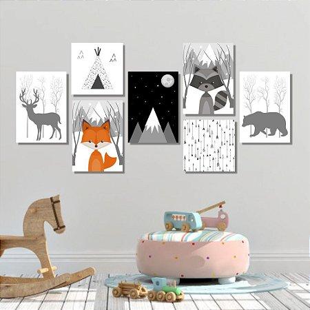 Kit Quadros Decorativos Decoração Infantil Nórdico Escandinavo