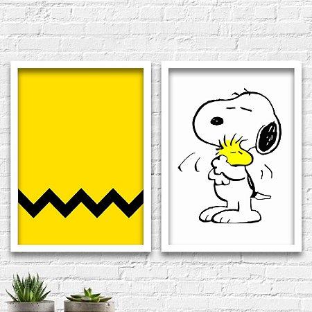 Kit Quadros Decorativos Decoração Snoopy