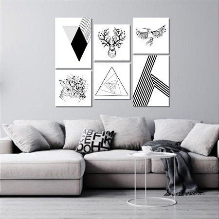 Kit Quadros Decorativos Decoração Nórdico Escandinavo