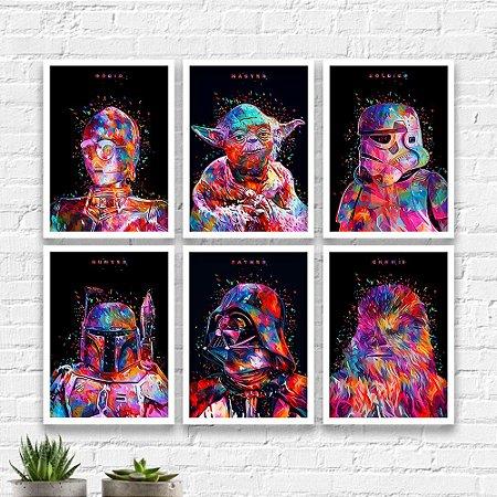 Kit Quadros Decorativos Decoração Star Wars