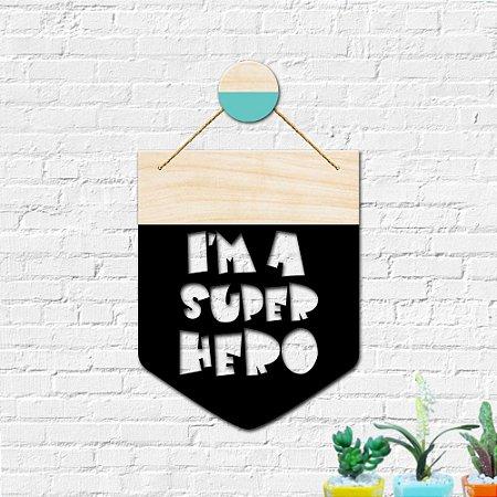 Flâmula Decoração Infantil Super Hero