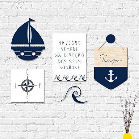 Kit Decoração Infantil Mar