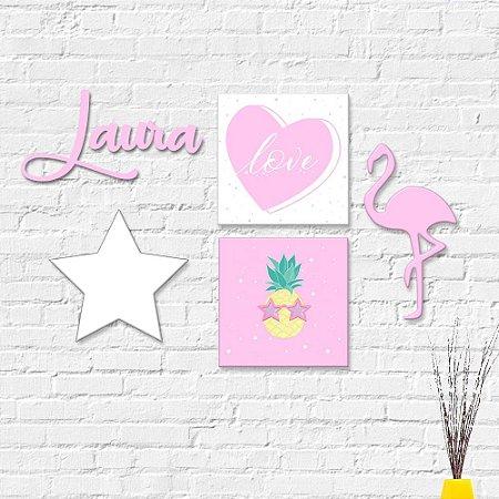 Kit Decoração Infantil Flamingo 2