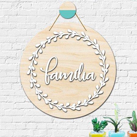 Placa Decorativa Família