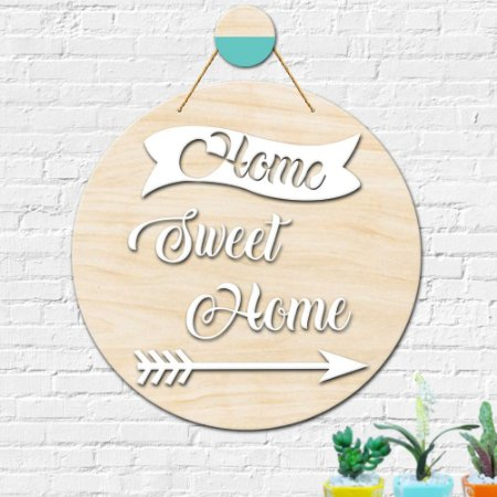 Placa Decorativa Sweet Home