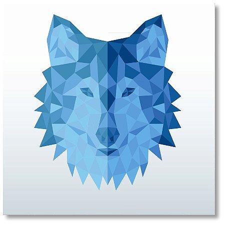 Quadro Decorativo Decoração Lobo Geométrico