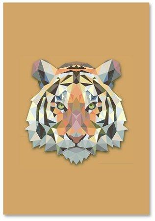 Quadro Decorativo Decoração Tigre Grométrico