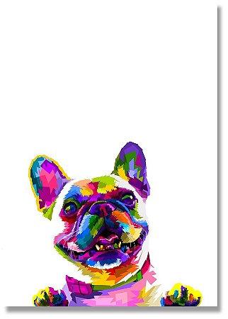 Quadro Decorativo Decoração Cachorro Bulldog Francês