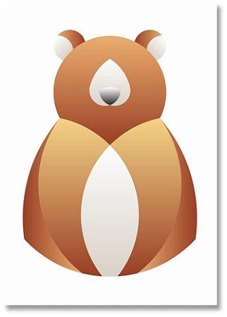 Quadro Decorativo Decoração Urso Minimalista