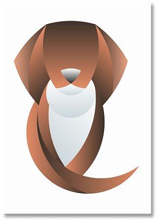 Quadro Decorativo Decoração Cachorro Minimalista