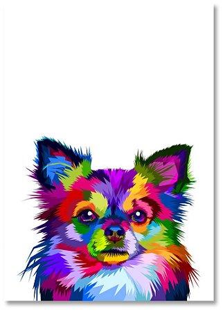 Quadro Decorativo Decoração Cachorro Chiuwawa