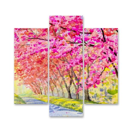 Conjunto Quadros Decorativos Parque Florido