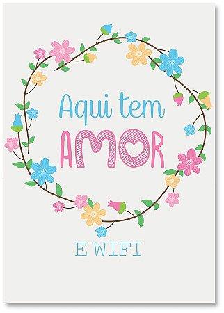 Quadro Decorativo Decoração Amor e Wifi
