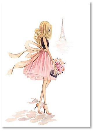 Quadro Decorativo Decoração Menina Paris