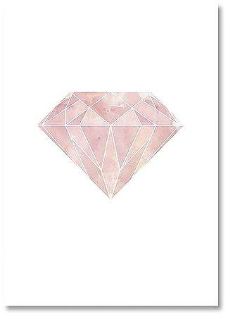 Quadro Decorativo Decoração Diamante Rosa