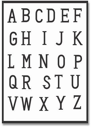 Quadro Decorativo Decoração Alfabeto