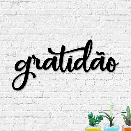 Palavra de Parede Gratidão