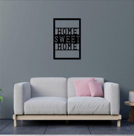 Escultura de Parede Home Sweet Home