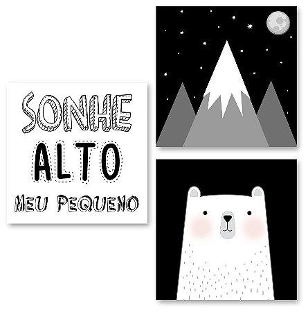 Kit Quadros Decorativos Urso Nórdico