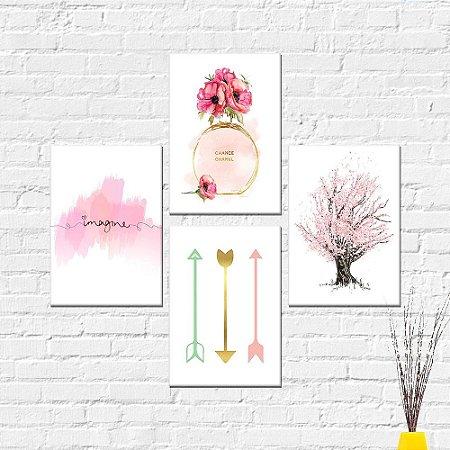 Kit Quadros Decorativos Imagine